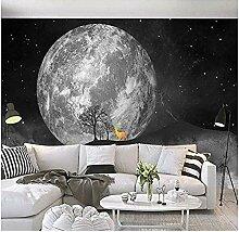 Fototapete Wandbild Sternenhimmel Big Moon Rentier