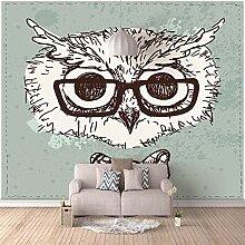 Fototapete Wandbild Tierische Eule mit Brille