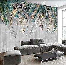 Fototapete Wandbild Tropischer Blattvogel