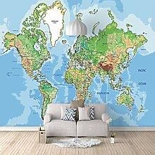 Fototapete Wandbild Weltkarte Fernseher Sofa