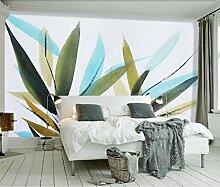 Fototapete Wandbilder 3D Effekt Aquarellblätter