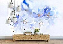 Fototapete Wandbilder 3D Effekt Aquarellblumen