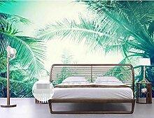 Fototapete Wandbilder 3D Effekt Blätter Tapete 3D
