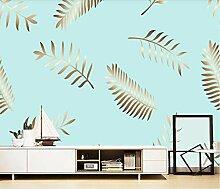 Fototapete Wandbilder 3D Effekt Blattgoldpflanze