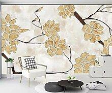 Fototapete Wandbilder 3D Effekt Marmorblumenmuster