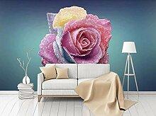 Fototapete Wandbilder 3D Effekt Rosenblätter Mit