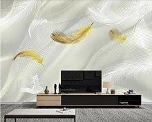Fototapete Wandbilder 3D Effekt Seidenschnurfeder