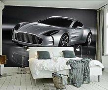 Fototapete Wandbilder 3D Effekt Silbergraues Auto