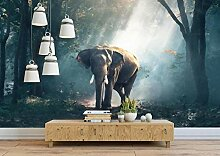 Fototapete Wandbilder 3D Effekt Waldelefant Tapete