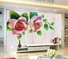 Fototapete Wandgemälde-Vlies-3D-Blume geprägte