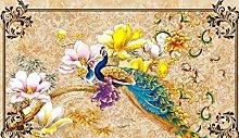 Fototapete Wandgemälde-Vlies-Marmor Orchidee