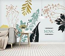 Fototapete Wandplakat Frische Pflanze Verlässt
