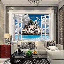 Fototapete Wandtapete Aus dem Fenster 350x256 cm