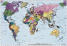 Fototapete Wandtapete Bildtapete Weltkarte 270x188