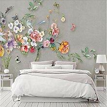 Fototapete Wandtapete Blume Schmetterling Wandbild