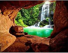 Fototapete Wasserfall 396 x 280 cm Vlies Wand