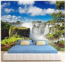 Fototapete Wasserfall 3D Wandbilder Für Fernseher
