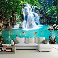 Fototapete Wasserfall Der Blätter 3D Wandbilder