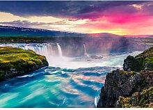 Fototapete Wasserfall Papier 2.54 m x 368 cm East