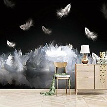 Fototapete weiße Feder 140CM x 100CM Wandbild