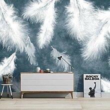 Fototapete Weiße Feder 3D Wandbilder Für
