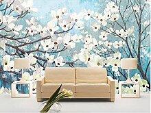 Fototapete Weiße Kirschblüte 150x105 cm -3