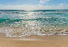 Fototapete - Wellen am Strand
