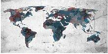 Fototapete Weltkarte auf Wand 2,7 m x 550 cm East