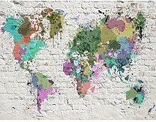 Fototapete Weltkarte Bunt Vlies Wand Tapete