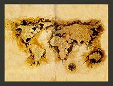 Fototapete WeltkArte der Goldsucher 154 cm x 200 cm