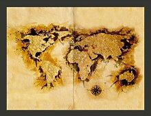 Fototapete WeltkArte der Goldsucher 193 cm x 250 cm