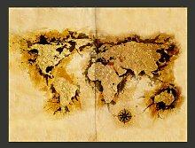 Fototapete WeltkArte der Goldsucher 231 cm x 300 cm