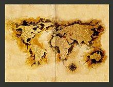Fototapete WeltkArte der Goldsucher 309 cm x 400 cm