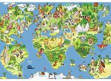 Fototapete Weltkarte für Kinder 1845 cm x 50 cm