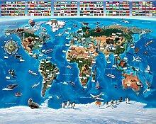 Fototapete - Weltkarte für Kinder