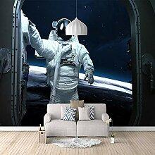 Fototapete Weltraumastronaut Mauer Fresco Foto