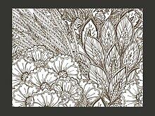 Fototapete Wiese (schwarz-weiß) 154 cm x 200 cm