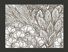 Fototapete Wiese (schwarz-weiß) 231 cm x 300 cm