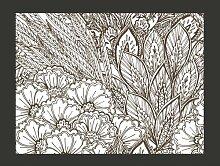 Fototapete Wiese (schwarz-weiß) 309 cm x 400 cm