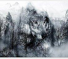 Fototapete Wolf 3D Wandbilder Für Fernseher
