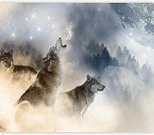 Fototapete Wolf Heult 3D Wandbilder Für Fernseher