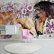 Fototapete Zwei Pferde Umarmen Sich 3D Wandbilder