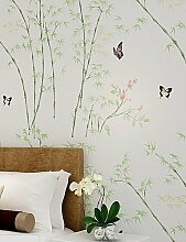 fototapeten 10m * 0.53M 3D Stapelschicht Verdickung Tapeten China Bambus frei atmen t866 , pink