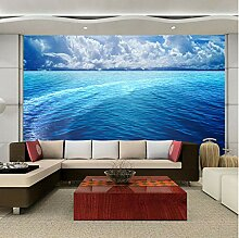 Fototapeten 3D Blaues Meer Vlies Wandbilder Tapete