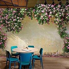 Fototapeten 3D Blumenwand Moderne Vlies Wand