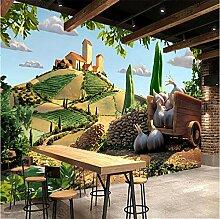Fototapeten 3D Cartoon Herrenhaus Vlies Wandbilder