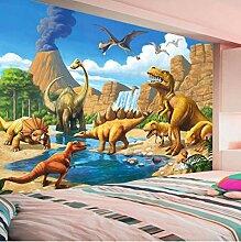 Fototapeten 3D Dinosaurier-Welt Vlies Wandbilder