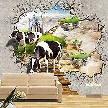 Fototapeten 3D Effekt Kuh Vliestapete Vlies Tapete