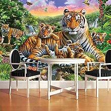 Fototapeten 3D Effekt Tiger Vliestapete Vlies
