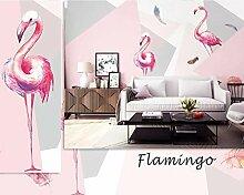 Fototapeten 3D Flamingo Moderne Vlies Wand Tapete